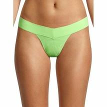 No Boundaries Women's Seamless V-Thong Panties Size LARGE Bright Green New - $11.38