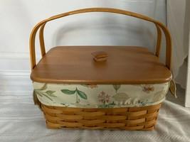 Longaberger 2007 Lunchbox Basket Combo Botanical Fields Fabric Liner, Li... - $74.79