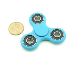 I fidget spinner edc finger hand spinner focus anxiety stress relief desk toy blue size thumb200