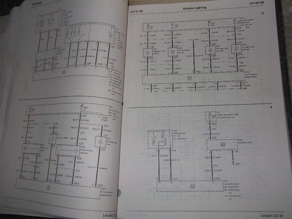 2001 FORD Lincoln LS Service Shop Repair Workshop Manual Set W EWD + Specs Bk