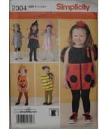 Kids Toddlers' Costumes Simplicity 2304 Patterns Bee Ladybug Pumpkin Dog... - $10.00