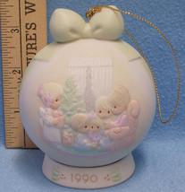 1990 Enesco Precious Moments Christmas Porcelain Bisque Ornament Stand 2... - $13.85