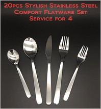 20pcs - New Modern, Stylish & Classic Stainless Steel Flatware Set for 4 - $29.79