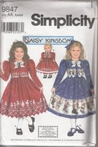 Simplicity 9847 Size AA 3,4,5,6 Child's Dress & Jacket Plus Doll Clothes Pattern - $15.68