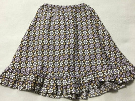 Gymboree Desert Flower 4 Purple White Brown Long Ruffle Hem Maxi Skirt - $11.99
