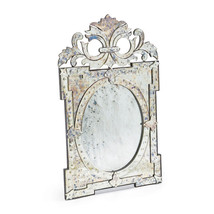 Stunning French Rococo Venetian Designer  Crowned Mirror Stunning - $1,584.02