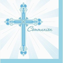 36-Count Blessings Blue Luncheon Communion  Napkins - $5.84