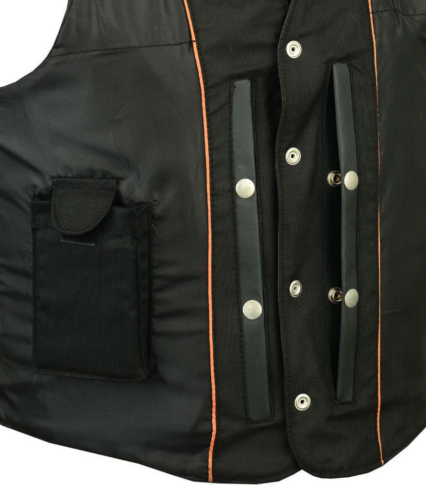 Men/'s Single Back Panel Concealed Carry Bike Motorcycle Vest by Daniel Smart Mfg
