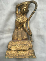 SO RARE! HOLY BLESSED OLD GOLD PHRA-MAE-THORANI-BEEB-MUAY-POM THAI BUDDH... - $29.99
