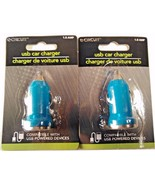 2 NEW USB COMPATIBLE CAR CHARGERS FOR PHONES AND MORE CIGARETTE LIGHTER ... - $3.00