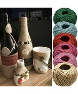 Natural Burlap Hessian Jute Twine Cord Hemp Rope Gift Wrapping 30 Meters... - $6.72