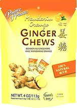 Prince of Peace Ginger Chews Candy with Mandarin Orange 4 oz (Pack of 12 ) - $39.59