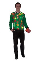 Tis The Season Light-Up Sweater Candy Cane Christmas Adult Costume Acces... - £27.32 GBP+