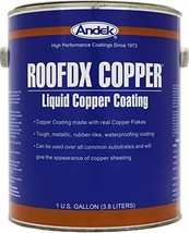 Andek RoofDX Copper, Very Durable Copper Coating made with real Copper Flakes, 1