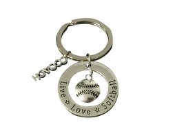 Softball Coach Keychain, Softball Gift, Softball Jewelry, Softball Coach - €9,18 EUR