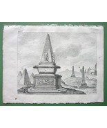 EGYPT Obelisk Tombs of Rich Egyptians - 1774 Original Copperplate Print - $10.80