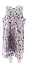 Isaac Mizrahi Special Edition Floral Jacquard Dress Lilac 10 NEW A301953 - $67.30