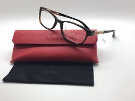 Guess Dark Havana Chain Link GU 2558F 052 54mm Eyeglasses Frames - $33.92