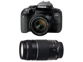 Canon EOS 800D DSLR Camera with ef-s 18-55mm Lens & ef 75-300 iii - $1,015.27