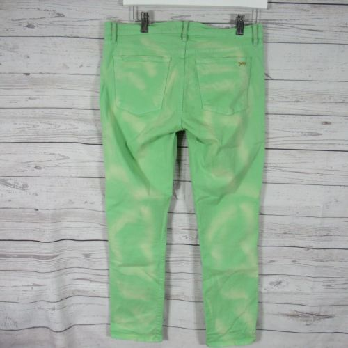 Juicy Couture Womens Jeans Size 30 Green Bleach Wash Pants image 3