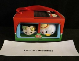 "Disney Store Tsum tsum set of two Mickey & Donald in Italy bus box 3.5"" ... - $24.22"