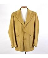 Vtg 70s Western Corduroy Sport Coat Blazer Suit Jacket Tan Camel Mens 42... - $38.60