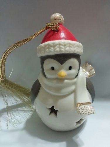 "Lenox Christmas LIT PENGUIN Color Changing Ornament 3.5"" American by Design"