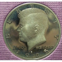 1985-S Deep Cameo Proof Kennedy Half PF65 #0379 - $3.19
