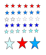 Red white Blue Stars-Digital ClipArt-Gigt Tag-Gift Card-Background-Jewelry - $2.00