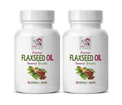 Flaxseed Oil Benefits Hair - Flaxseed Oil Organic 1000mg - Immune Suppor... - $28.66