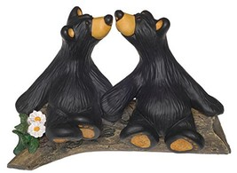 DEMDACO Kissin' Bears Black Bear 4 x 6 Hand-cast Resin Figurine Sculpture - $40.01
