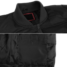 vkwear Men's Quilted Padded Insulated Heavyweight Puffer Bomber Jacket VAQ image 4