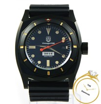 Vintage VDB 2016 Black PVD Watch 46mm Limited to 30 Box Papers - $1,349.00