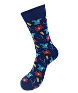 Urban-Peacock Men's Novelty Fun Crew Socks - Doctor & Nurse - Navy - 1 Pair - $9.95