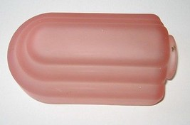 "Slip Shade Pink Satin Art Deco Wall Sconce Fixture Frosted 2"" Fitter - $51.27"