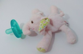Pink Elephant flowers Ella Bella Wubbanub Plush Toy Pacifier Mary Meyer - $9.89
