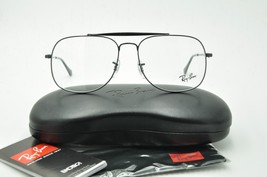 New Ray Ban RB 6389 Aviator Eyeglasses 2509 Shiny Black 57mm + Case - $93.46