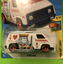 Hot Wheels 68/250 King of Hearts Super Van HW Art Cars 9/10 Mattel 2017 - $9.49