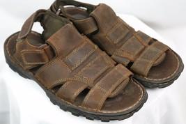 Men's Skechers Brown Leather Open Toe Sport Fisherman Sandals Size 8 60847 - $23.50