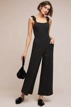 New Anthropologie Cavalier Jumpsuit by Maeve BLACK $158 Size 6 - $81.18