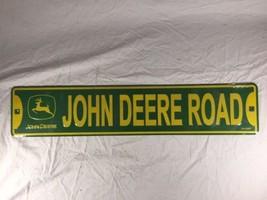 John Deere Road Sign Green Yellow Logo Sealed - $24.08