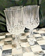 "Set Of 6 Cristal D'arques Longchamp Clear 6-1/2"" Wine Glasses; 6-oz; Excellent! - $24.74"