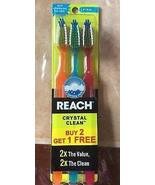 Reach Toothbrush Crystal Clean Firm 3 pack(pack of 2) Total 6 Brushes - $11.39