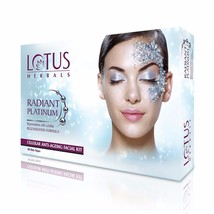 Lotus Herbals Radiant Platinum Cellular Anti-Ageing 4 Facial Kit-170gm - $45.00