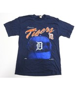 1995 Blue Detroit Tigers MLB Baseball Graphic Shirt Adult Men's Size Large - $29.65