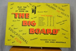 Vintage The Big Board Don Jones Industrials Investors Stock Market Game ... - $37.80