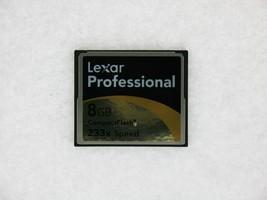 Lexar Professional 8GB 233X Speed PN:2726 REV A Compact Flash Card