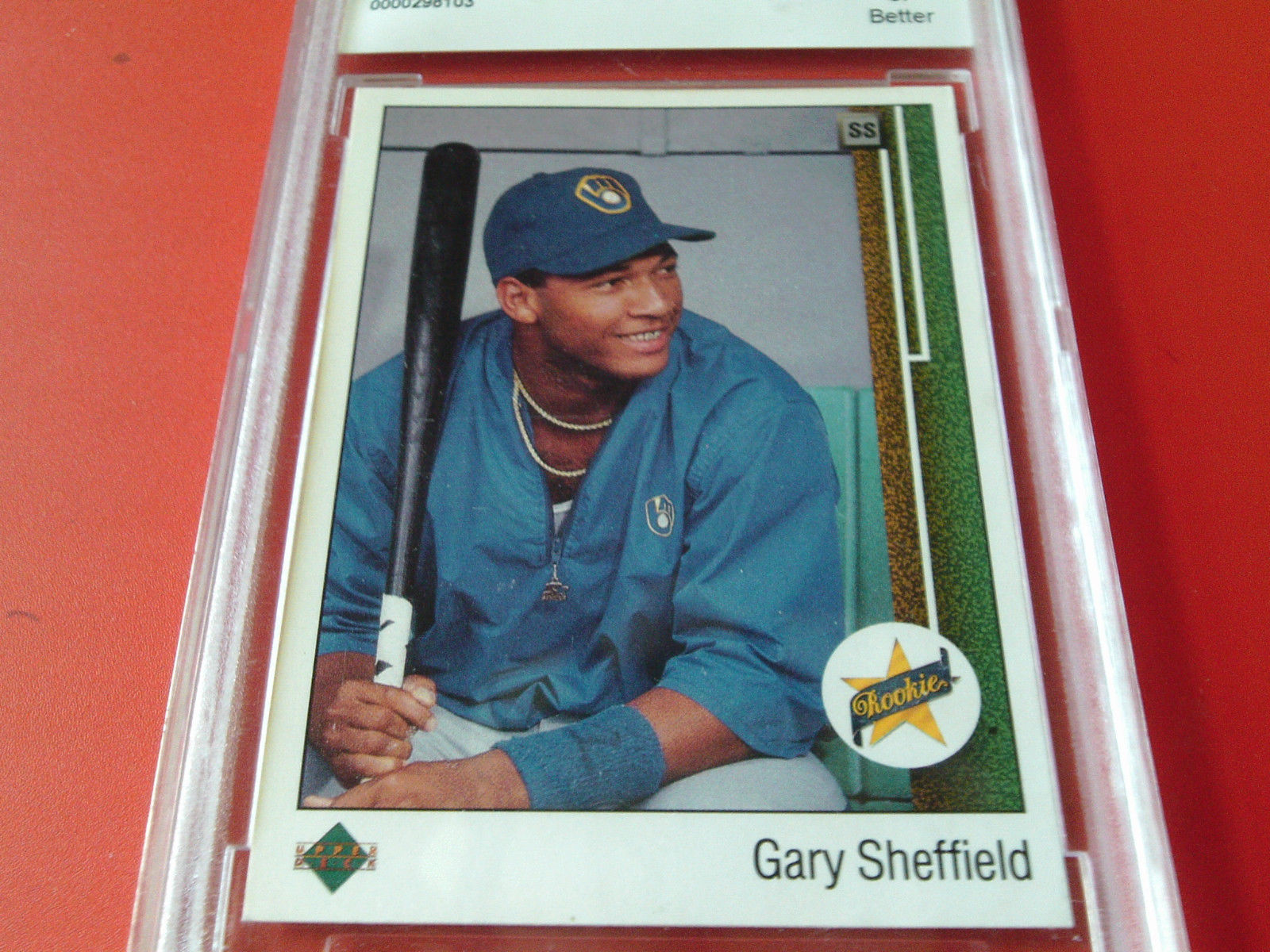 1989  UPPER  DECK  #13   GARY  SHEFFIELD   ROOKIE   BCCG  9   !!