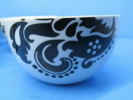 """Shannon Palace Damask Black On White 3"""" H X 5 1/2"""" W Cereal Bowls Set Of... - $57.82"""