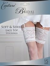 COUTURE Elfenbein Damen Braut Luxus Tiefe Spitze Top Weich Und Durchsich... - $15.34